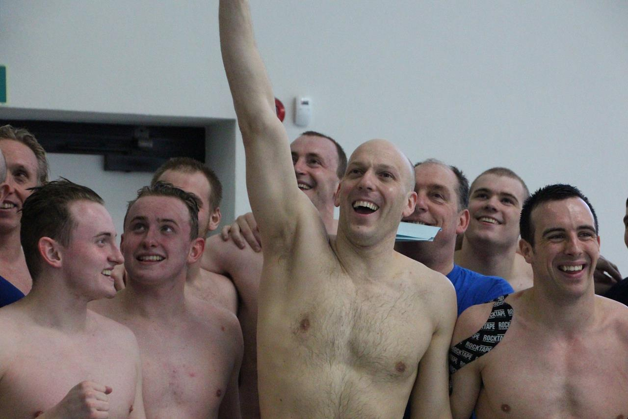 Capt Neilson and the boys after winnning bronze at CWPC 2014